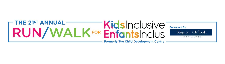 KidsInclusive run/walk banner