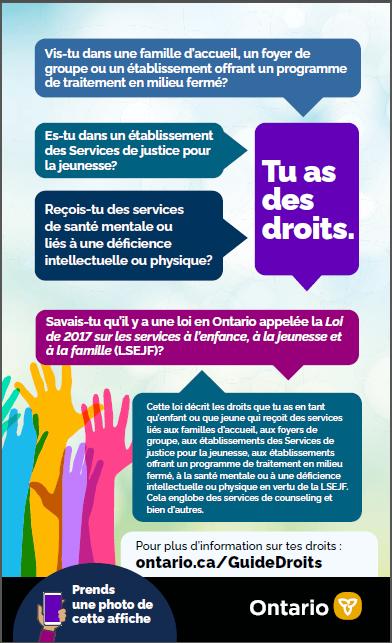 une nouvelle Ressource pour les droits des enfants et des adolescents (ressource pour les droits) (www.ontario.ca/guidedroits)